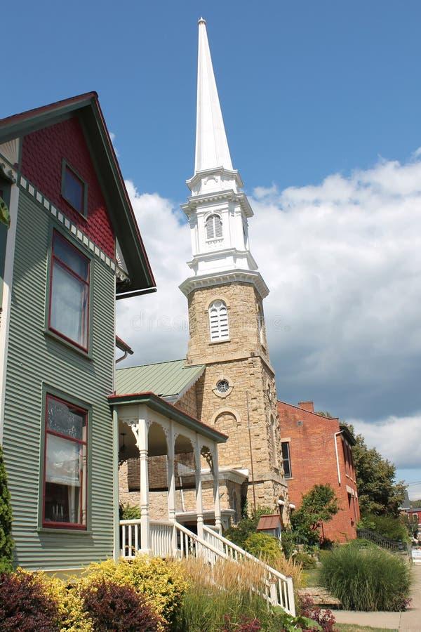 Arquitetura do galeno, Illinois foto de stock royalty free