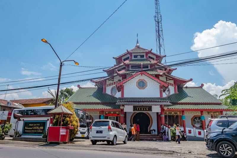 Arquitetura do hoo grande de cheng da mesquita em Purbalingga, Indon?sia imagens de stock royalty free