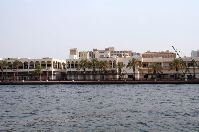 Arquitetura do leste, panorama com uma vista das construções fotografia de stock
