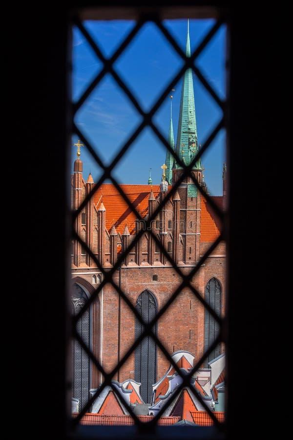 Arquitetura do St Mary & do x27; basílica de s em Gdansk, Polônia imagem de stock royalty free