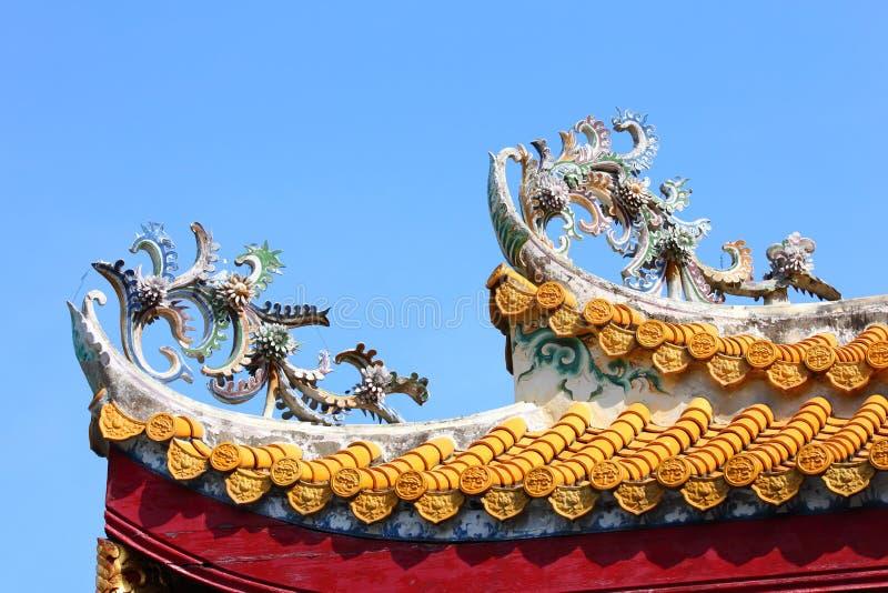 Arquitetura do telhado do templo budista imagem de stock