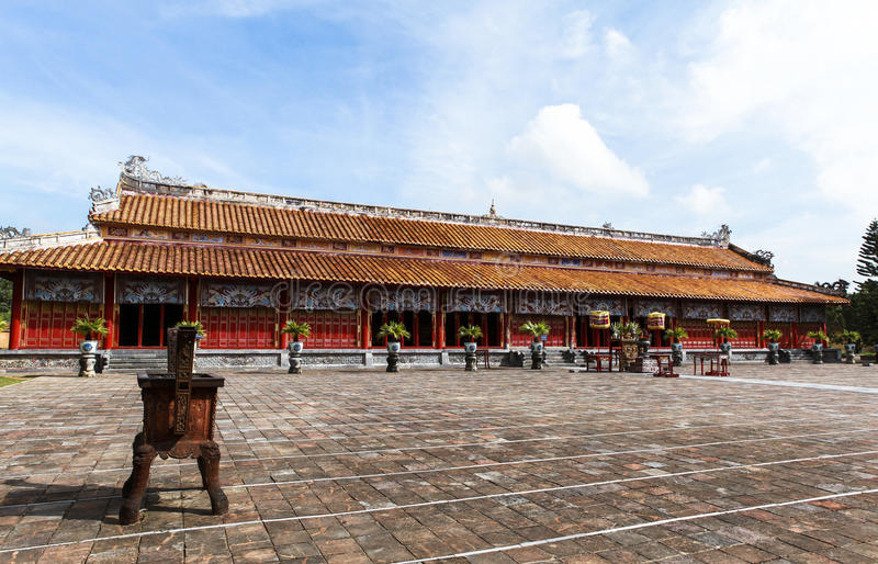 Arquitetura do templo a citadela antiga da matiz, Vietname foto de stock