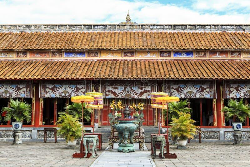 Arquitetura do templo a citadela antiga da matiz, Vietname imagens de stock