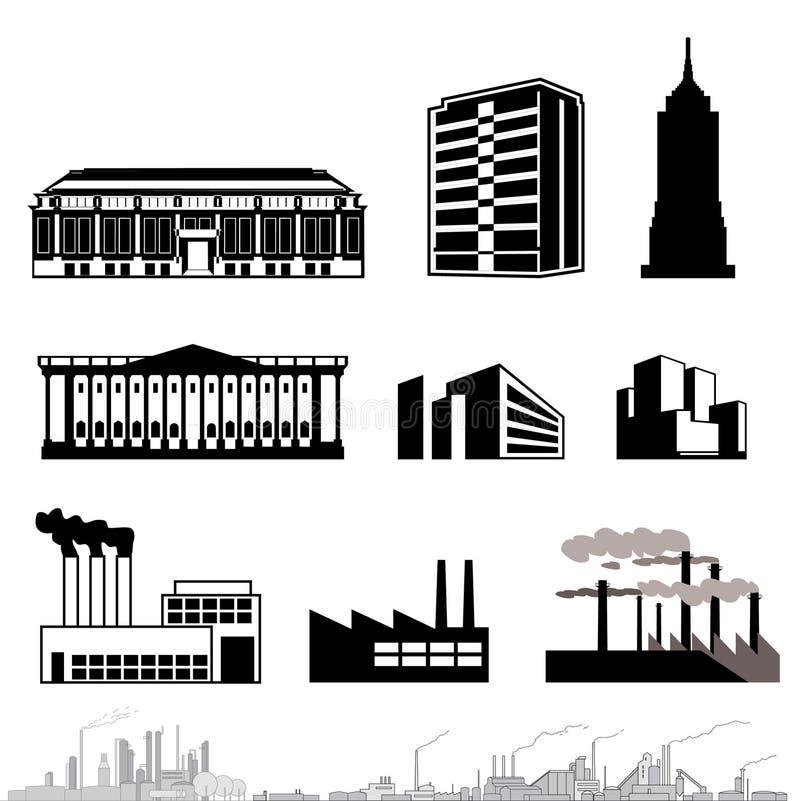 Arquitetura do vetor ilustração royalty free