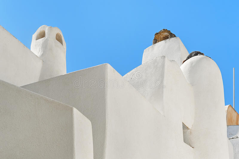 Arquitetura dos Emporia vila, Santorini, Grécia fotos de stock royalty free