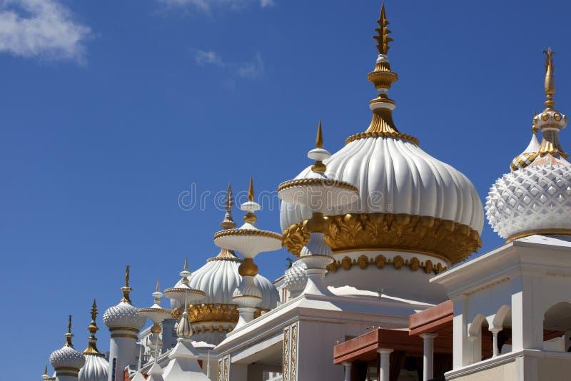Arquitetura: Elementos do Oriente Médio do estilo de Mughal foto de stock