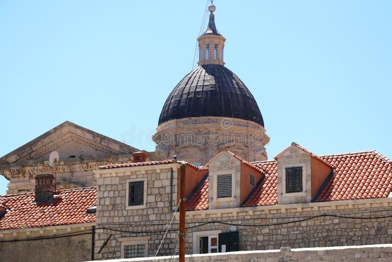 Arquitetura em Dubrovnik foto de stock