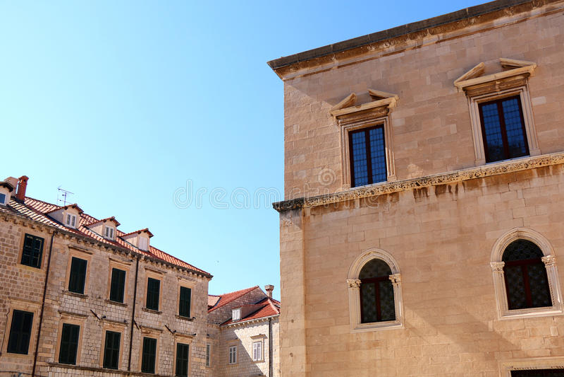 Arquitetura em Dubrovnik fotografia de stock