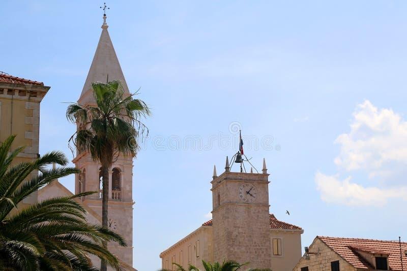 Arquitetura em Supetar, Cro?cia fotos de stock royalty free