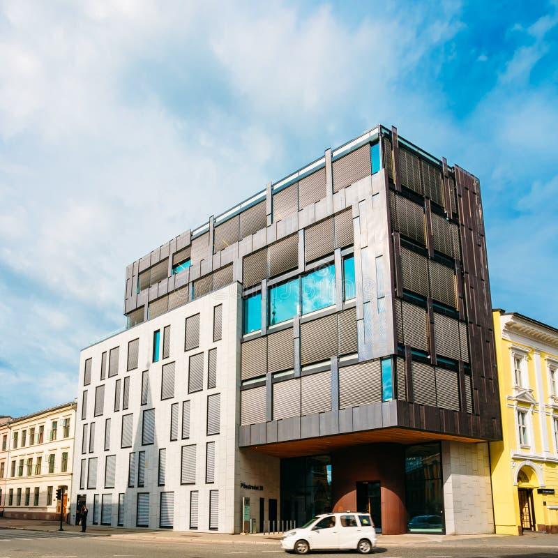 Arquitetura escandinava - escritório exterior fotos de stock