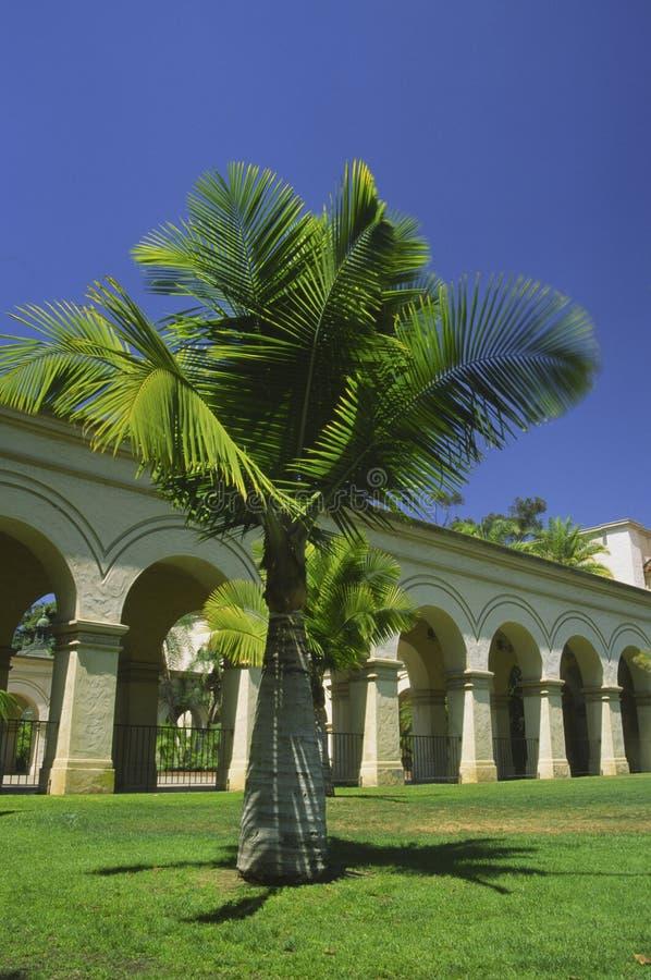 Arquitetura espanhola no parque do balboa, San Diego fotografia de stock