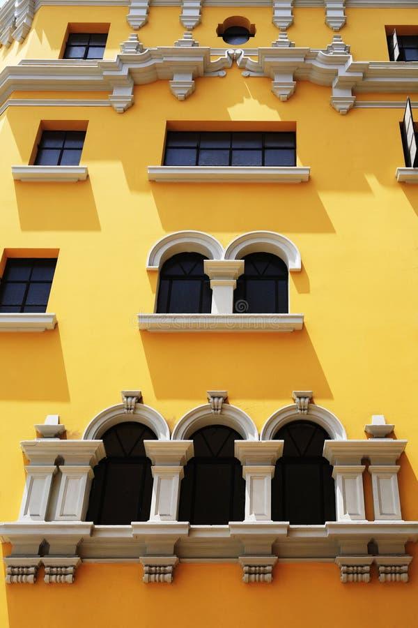 Arquitetura espanhola velha, Arequipa, Peru. foto de stock royalty free