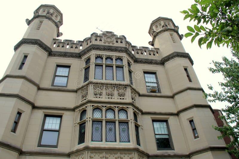Arquitetura exterior da casa histórica, Richard Bates House Museum, Oswego, New York, 2016 imagens de stock royalty free