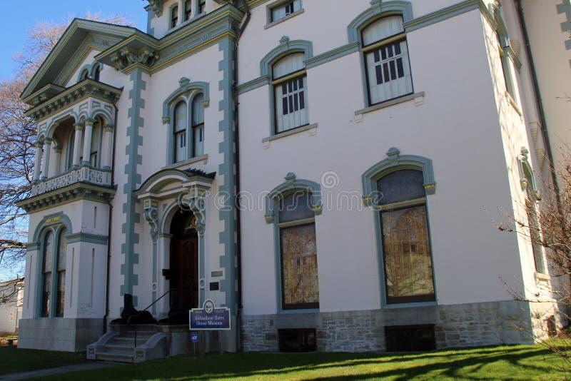 A arquitetura exterior impressionante indica o opulentdesign, Richard Bates House histórico, Oswego, New York, 2016 fotografia de stock