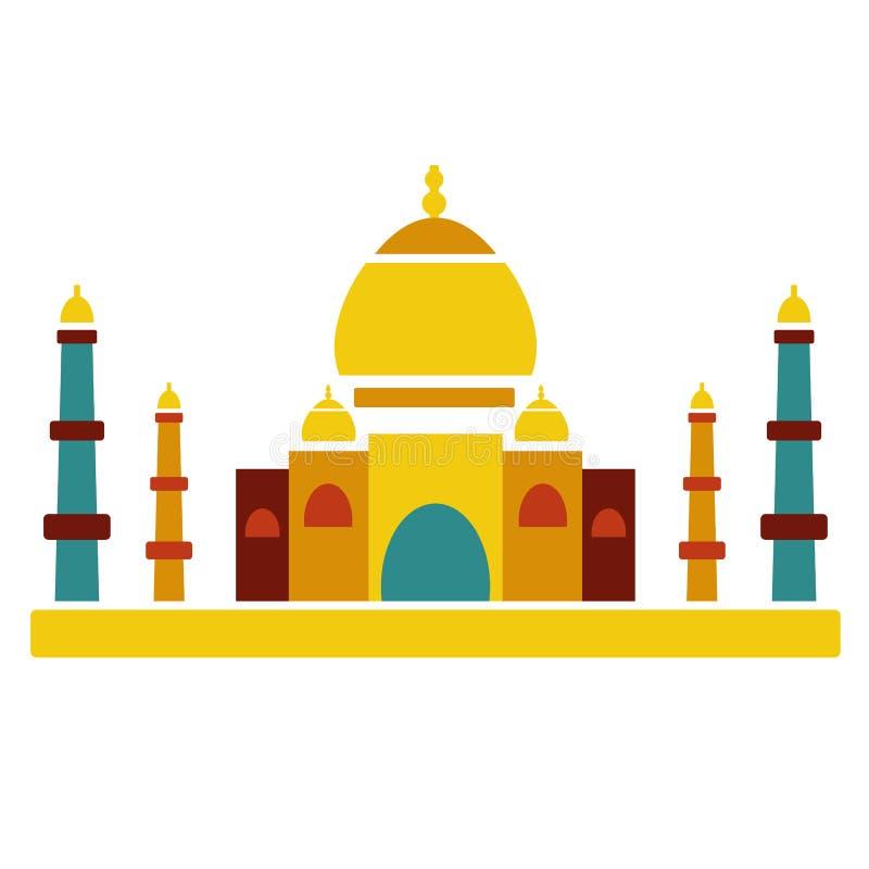 Arquitetura famosa do indiano da cultura de Taj Mahal ilustração do vetor