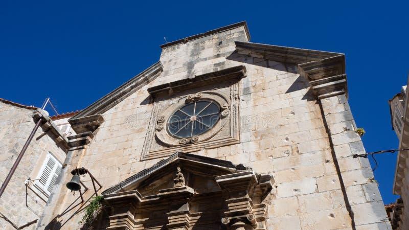 Arquitetura fascinante na cidade velha de Dubrovnik, Croácia imagem de stock