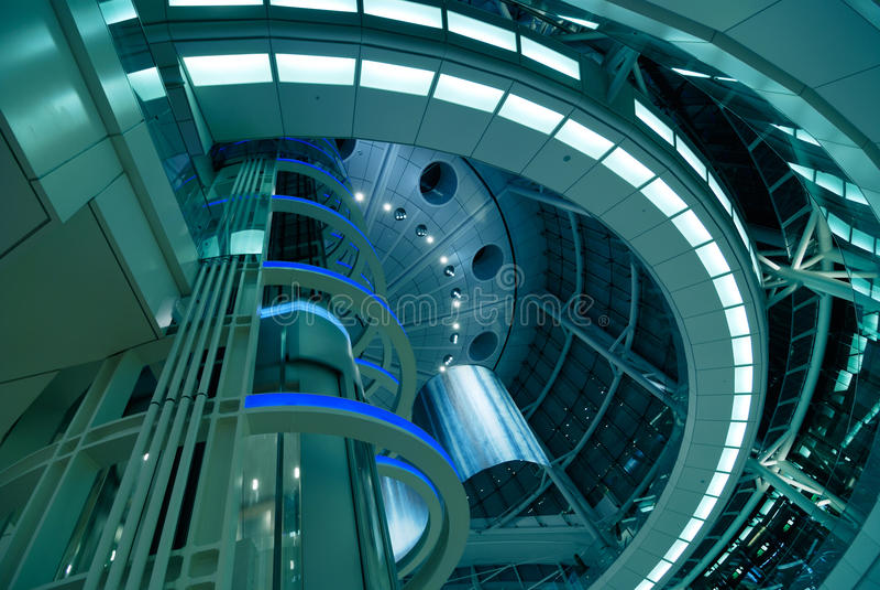 Arquitetura futurista imagens de stock royalty free