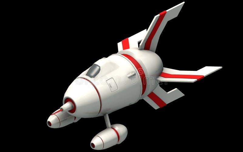Arquitetura futurista isométrica da ficção científica, navio de espaço da fantasia rendição 3d ilustração royalty free