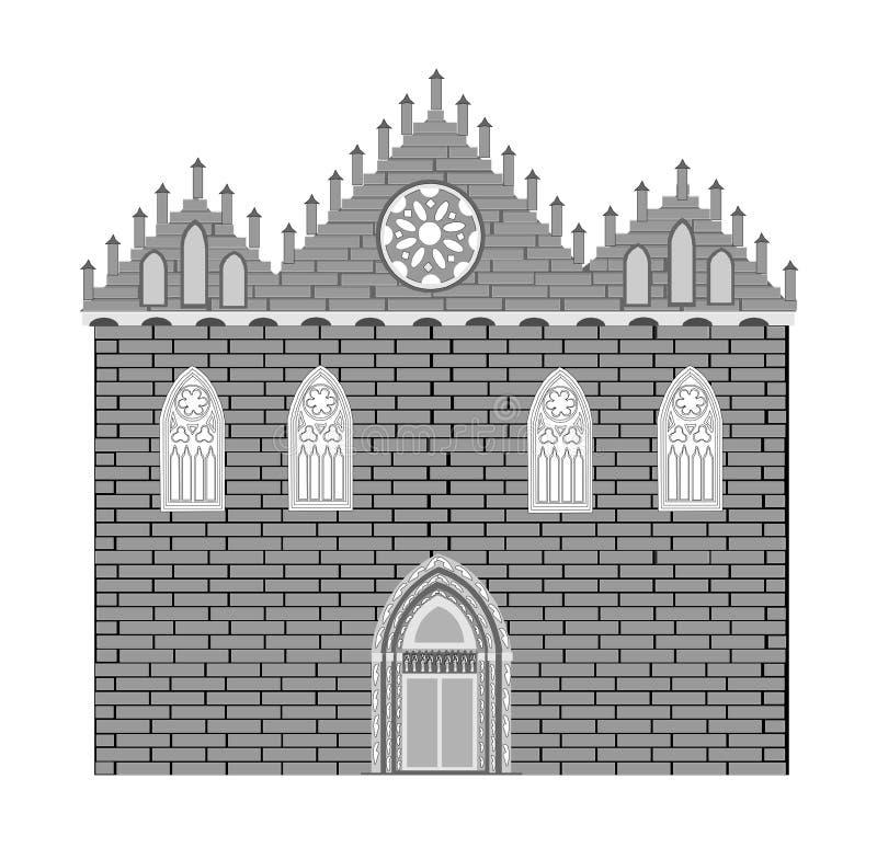 Arquitetura gótico do estilo ilustração stock