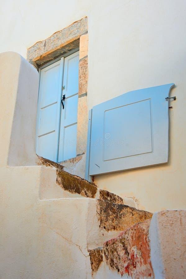 Arquitetura genérica de Emporio, Santorini, Grécia fotografia de stock royalty free