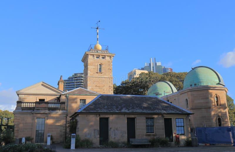 Arquitetura histórica Austrália de Sydney Observatory fotos de stock