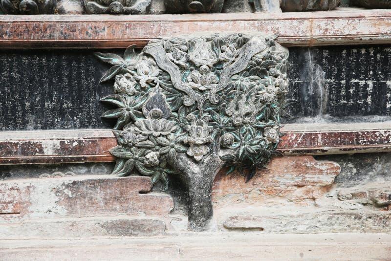 Arquitetura histórica chinesa, herança cultural do mundo imagem de stock