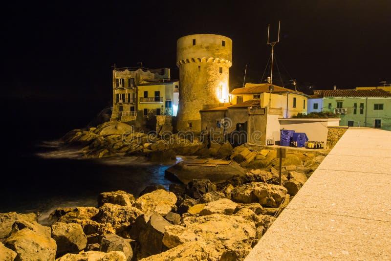Arquitetura histórica da ilha de Giglio fotografia de stock royalty free