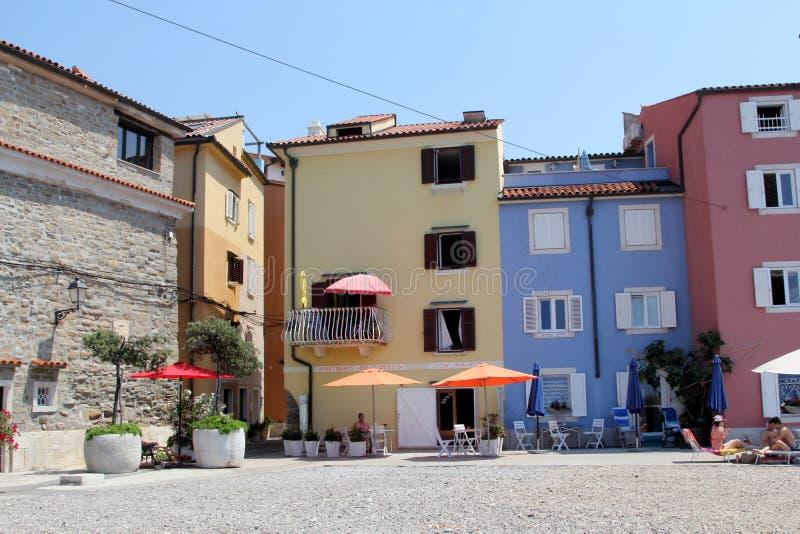 Arquitetura histórica de Piran, Eslovênia fotos de stock