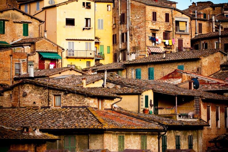 Arquitetura histórica de Siena imagem de stock