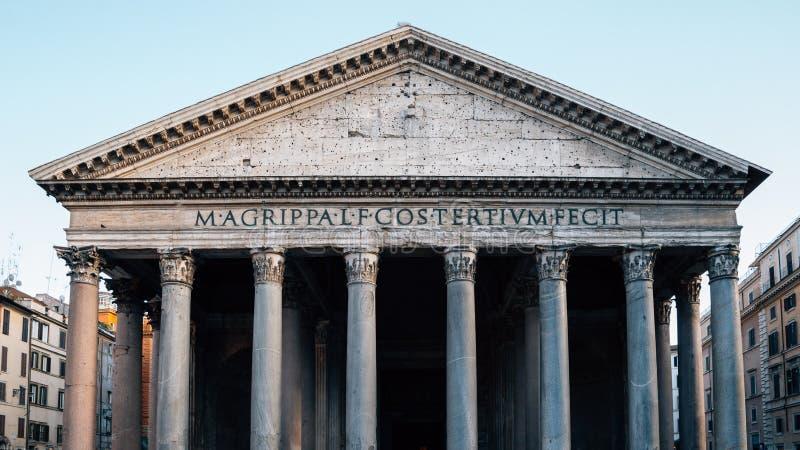 Arquitetura histórica do panteão em Roma, Itália imagens de stock royalty free
