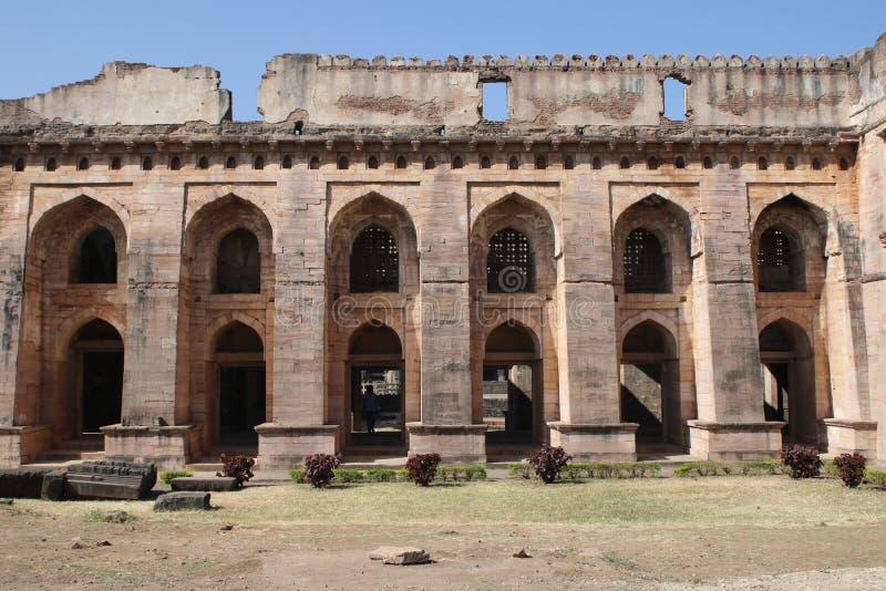 Arquitetura histórica, hindola mahal imagens de stock