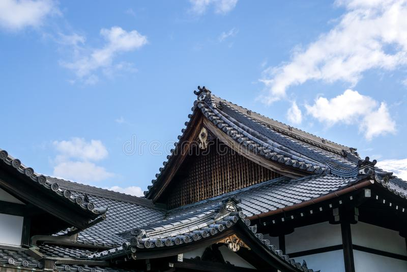 Arquitetura histórica japonesa de Gion fotografia de stock