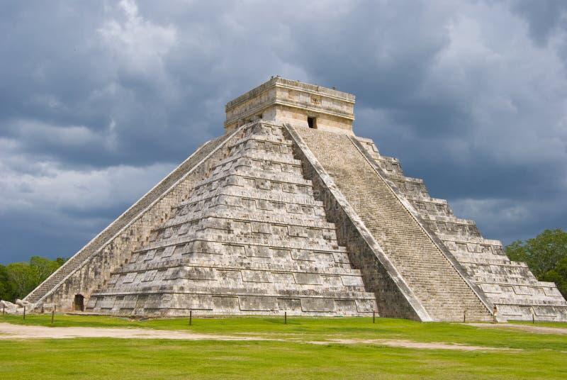 Arquitetura maia fotografia de stock