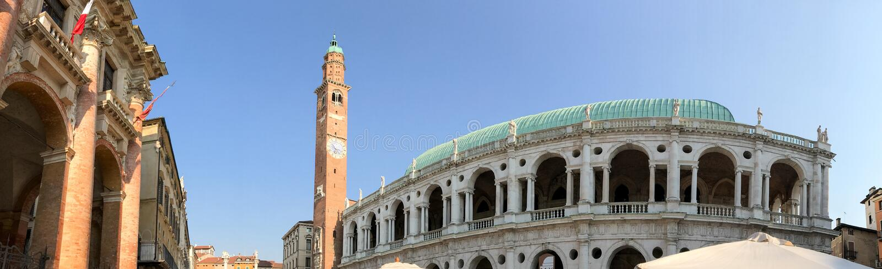 Arquitetura medieval de Vicenza, Itália imagens de stock