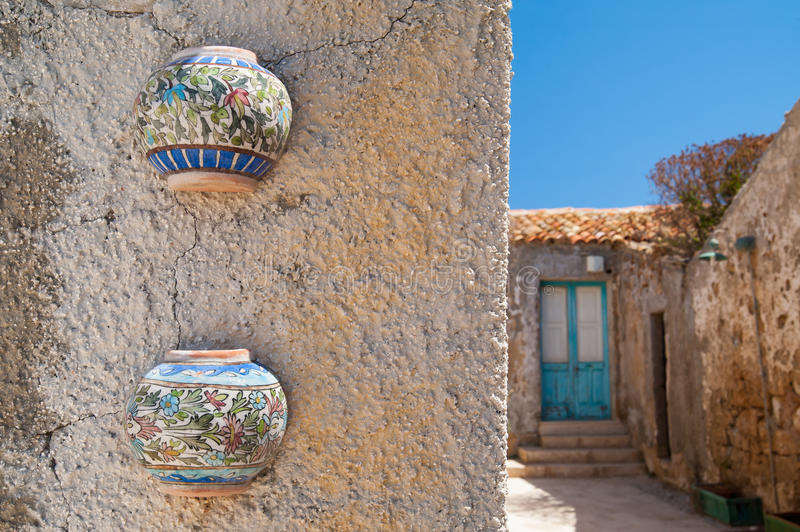 Arquitetura mediterrânea imagens de stock