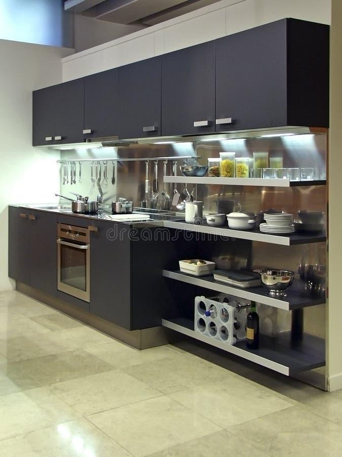 Arquitetura moderna 03 da cozinha fotografia de stock royalty free