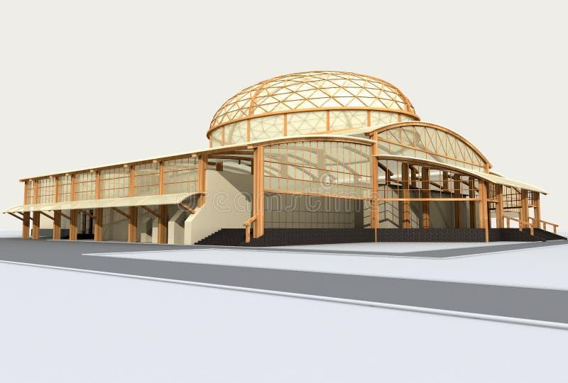 Arquitetura moderna ilustração stock