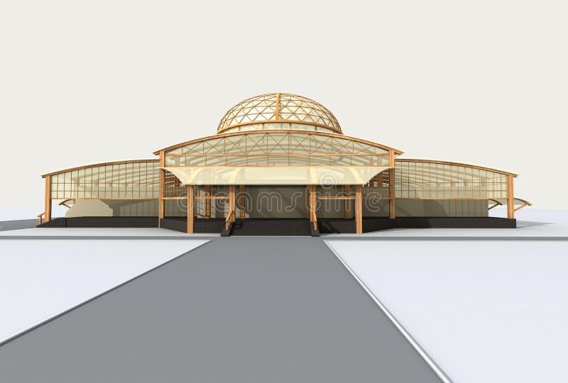 Arquitetura moderna ilustração do vetor