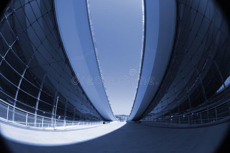 Arquitetura moderna abstrata fotografia de stock