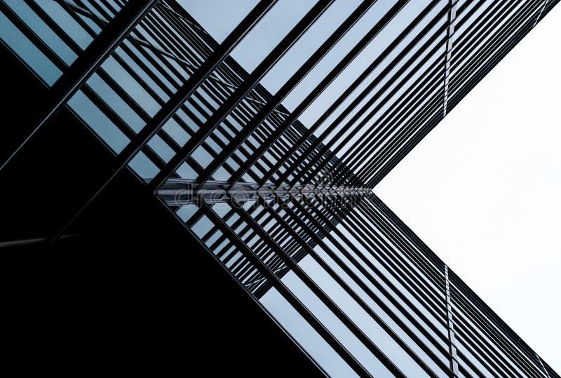Arquitetura moderna X azul fotos de stock