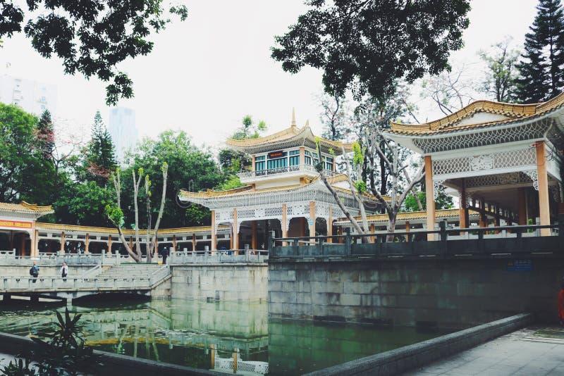 Arquitetura moderna chinesa da corte imagem de stock royalty free