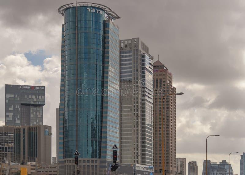 Arquitetura moderna Cidade moderna do Médio Oriente Tel Aviv, a capital de Israel Paisagem da cidade fotos de stock