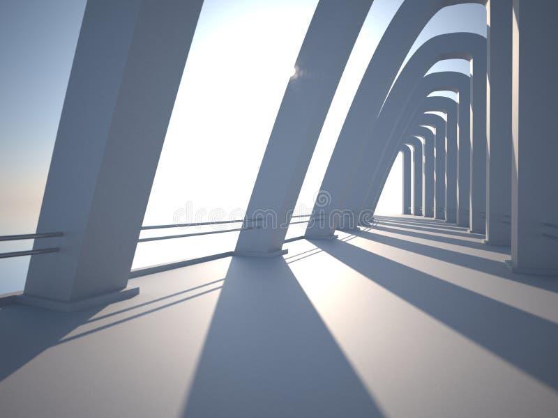 Arquitetura moderna da coluna ilustração do vetor