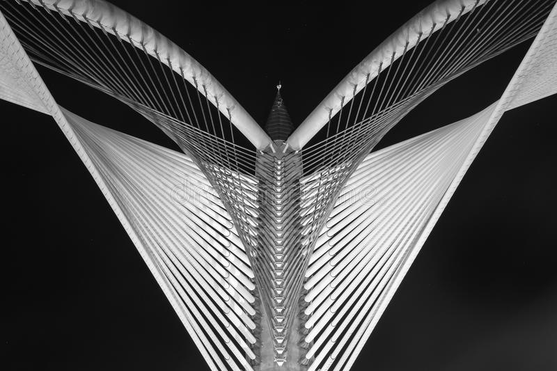 Arquitetura moderna da ponte - Jambatan Seri Wawasan fotografia de stock royalty free