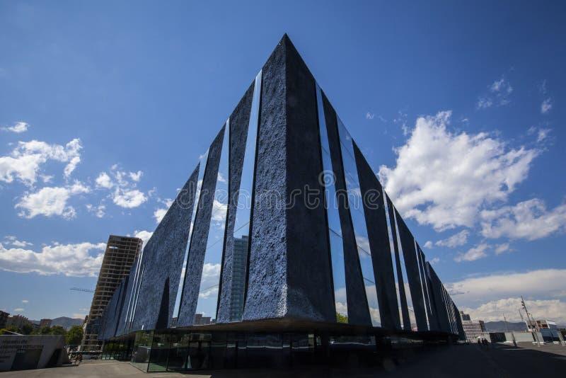 Arquitetura moderna de Barcelona, Museu Blau fotos de stock