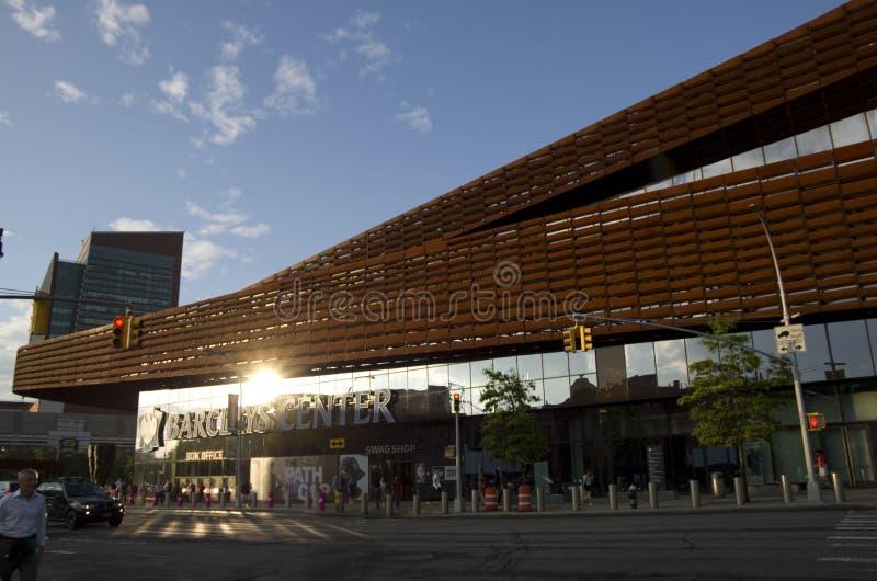 Arquitetura moderna de Barclay Center imagens de stock