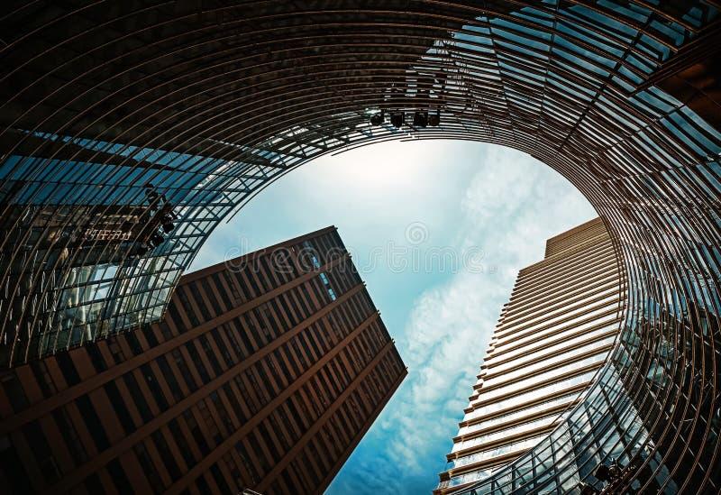 Arquitetura moderna de Manhattan foto de stock