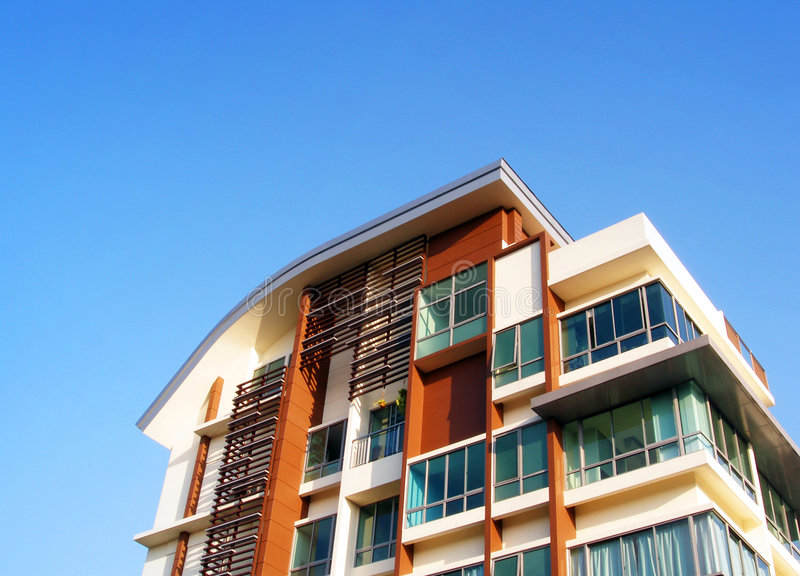 Arquitetura moderna do apartamento fotografia de stock royalty free
