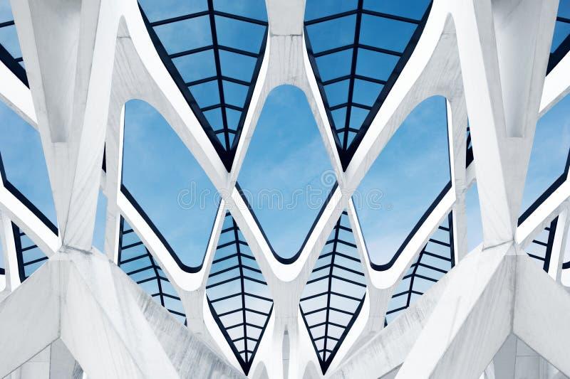 Arquitetura moderna do edifício fotografia de stock royalty free