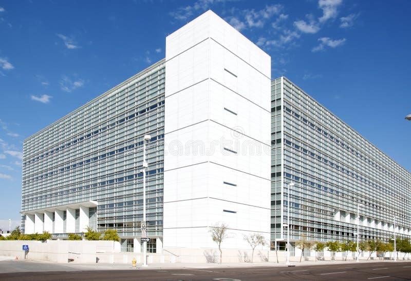 Arquitetura moderna em Phoenix, AZ fotografia de stock